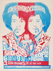 A $7,000 Reward Is Offered For This Jimi Hendrix The Factory 2/27/68 Concert Poster