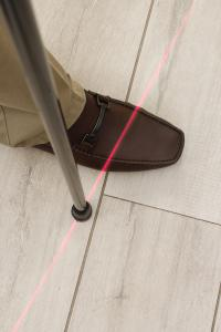 LaserCue Projected Line Stops Gait Freezing