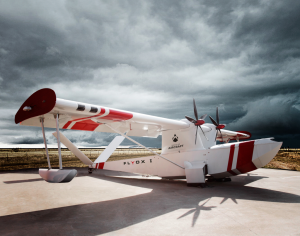 Portrait of Singular Aircraft Drone in Lleida airport in cloudy day