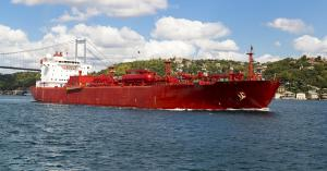 VLGC Transporting LPG on Istanbul's Bosphorus Strait