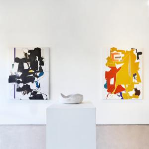Aaron Wexler images with Yasha Butler Ceramics in Exhibit by Aberson Gallery