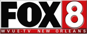 FOX 8 News WVUE-TV logo