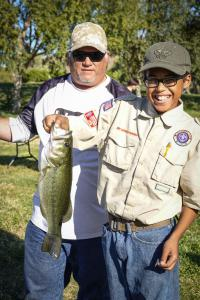 The winning fish in the Boy Scouts league.
