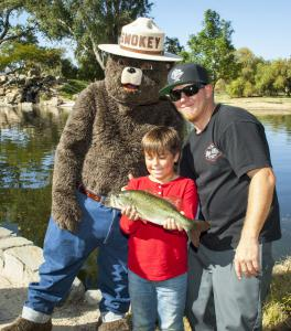 Smokey the Bear joins in the fun