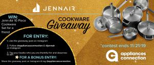 Appliances Connection 2019 Black Friday Sale Jenn-Air Cookware Giveaway: Banner