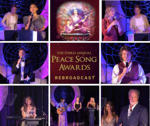 a collage of 3rd annual peace song award participants