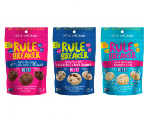 New Rule Breaker Bites are totally snackable, convenient, guilt-free and amazingly delicious.