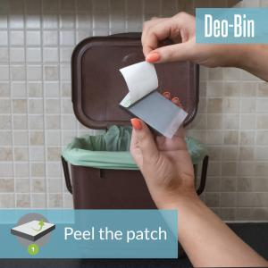 food trashcan peel off backing paper