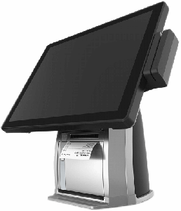 "15"" 4:3 multi-function PCAP touch POS system with built-in printer"