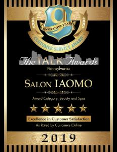 Salon IAOMO wins 9th straight Talk Award for High Customer Satisfaction Ratings
