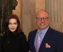 Priscilla Presley and Marty Irby