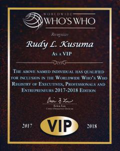 Rudy Lira Kusuma 2017-2018 Worldwide Who's Who Registry