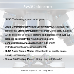hMSC skincare Science