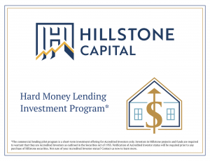 Hillstone Capital's Proprietary Hard Money Lending Visual Icon