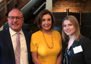 Marty Irby, Speaker Nancy Pelosi, and Holly Gann in July