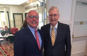 Marty Irby and Senate Majority Leader Mitch McConnell in July