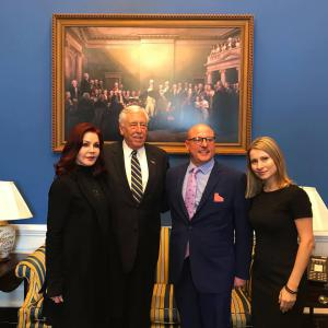 Priscilla Presley, House Majority Leader Steny Hoyer, Marty Irby, and Holly Gann