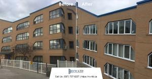 Before & After Windows Renovation Projects Photos - Mount Royal Manor Building