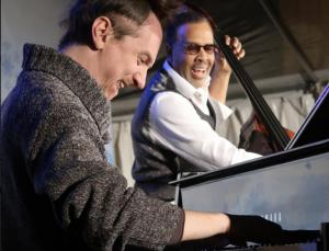 Ruslan Sirota and Stanley Clarke at the jazz concert in Winter Wonderland in Kansas City