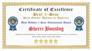 Sherri Bouslog Certificate of Excellence Concord CA