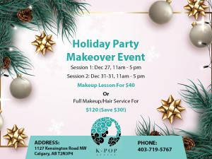 K-Pop Secret Beauty Studio Calgary Holiday Party Makeover Event December 2019