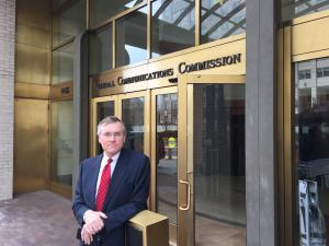 Insights Association ceo David Almy outside of the Federal Communications Commission (FCC)