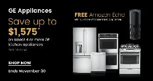Save Big on GE Appliances and Get a Free Amazon Echo with a Qualifying Purchase at the Appliances Connection 2017 Black Friday Sale