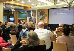 A special agent from the Seattle FBI Field Office was the featured speaker at the open house.