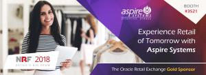 Aspire Systems exhibiting at NRF2018 and Oracle REx