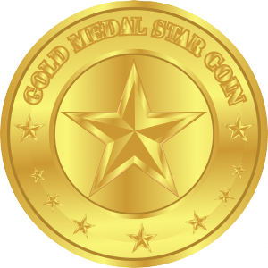 Gold Medal Star Blockchain Token