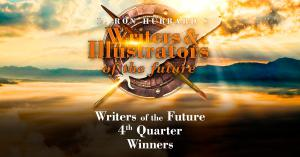 Logo for the 4th quarter Writers of the Future Contest