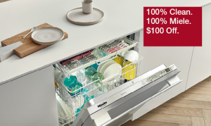 Miele Dishwasher $100 Off Rebate Offer at Appliances Connection