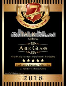 2018 Talk Award Winner Able Glass