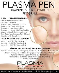 Plasma Pen Pro Training and Certification Program in Toronto, Ontario