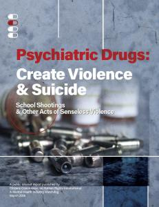 Between 2004 and 2012 the FDA's safety information and adverse event reporting program, known as MedWatch, received a staggering 14,773 reports of psychiatric drugs causing violent side effects.