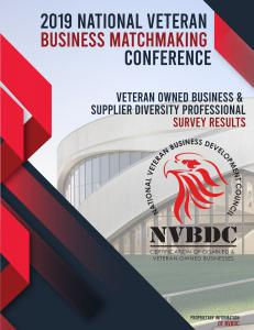 "NVBDC 2019 National Veteran Business Conference survey results show the majority consensus was ""the best ever"""