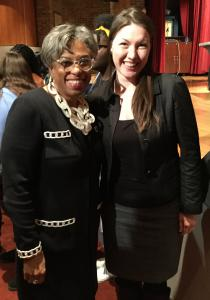 Congresswomen Joyce Beatty with Human Rights Advocate Martine Yang.