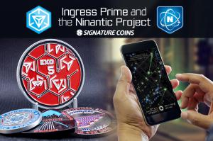 Players of Ingress Prime create their own custom challenge coins in honor of special events and gatherings.