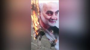 Tehran 10 Feb 2020 - Soleimani posters torched