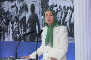 Maryam Rajavi speaking at the anniversary of the 1979 anti-monarchic revolution in Ashraf-3 - February 2020