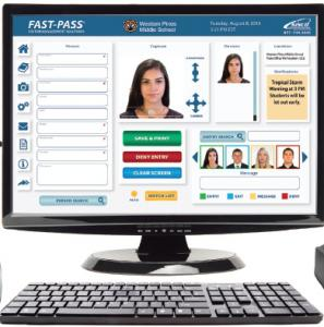 Allows Visitors to Enroll their information into the Visitor System