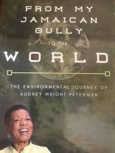 "Book Cover of ""From My Jamaican Gully to the World"" featuring photo of the author, Audrey Peterman"