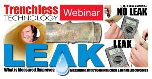 Chuck Hansen peers through an exhumed section of CIPP with leaks identified by FELL & confirmed by eye-dropper dye testing, but missed by CCTV.  New standards & utility best practices for testing Cured-In-Place Pipe will be discussed in the company's upcoming webinar.