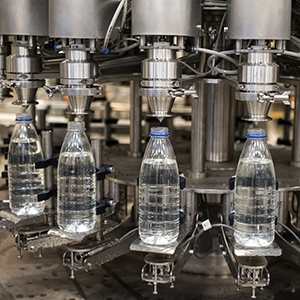 Machine vision being used at a bottling plant