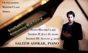 Pianist Saleem Ashkar performs and gives piano masterclasses at InterHarmony Festival in July in Italy and August in Germany