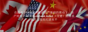Flags of the USA Canada China United Kingdom and EU with Guildhawk Aided Translation Technology text in simplified chinese