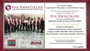 Five Towns College Nationally Accredited Music College with programs of study