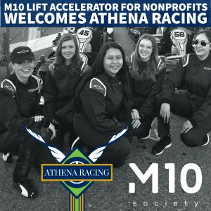Athena Racing is accepted into the Silicon Valley Accelerator Program with M10 Society to advanced the nonprofit with 5x growth
