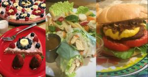 My Vegan Venue ~ Pancake Pizza, Spring Rolls, BBQ Cheeseburger with Beer-battered Onion Rings