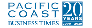 20th Anniversary Logo of Pacific Coast Business Times